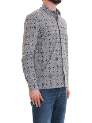 VERSACE COLLECTION: camicie online - Camicia a fantasia geometrica