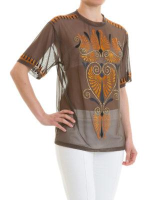 VERSACE COLLECTION: t-shirt online - T-shirt in rete decorata
