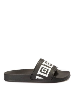 Versace Collection: sandals - Greca Key rubber slide sandals