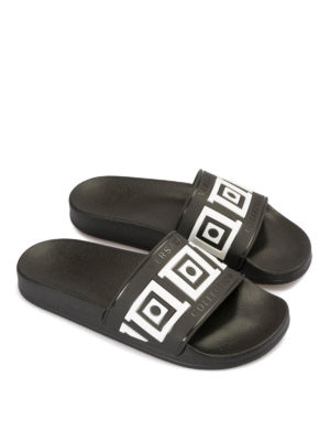 Versace Collection: sandals online - Greca Key rubber slide sandals