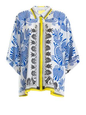 VERSACE COLLECTION: camicie - Camicia a scatola in seta barocca