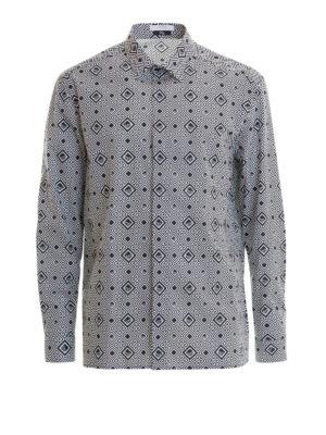 VERSACE COLLECTION: camicie - Camicia a fantasia geometrica