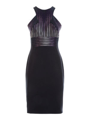 Versace Collection: short dresses - Embellished bodice sheath dress