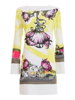 Versace Collection: short dresses - Floral patterned jersey dress