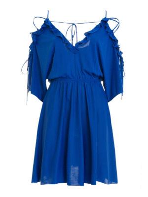 Versace Collection: short dresses - Flounced viscose short dress