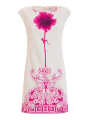 Versace Collection: short dresses - Greek fret cotton blend dress