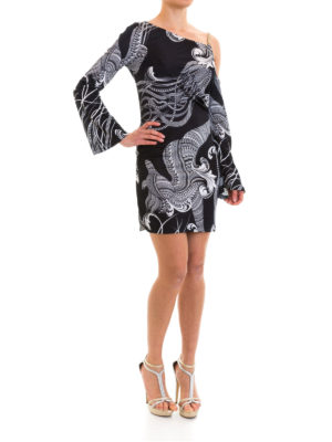 Versace Collection: short dresses online - Barocco print one shoulder dress
