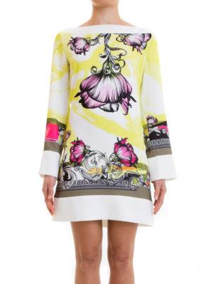 Versace Collection: short dresses online - Floral patterned jersey dress