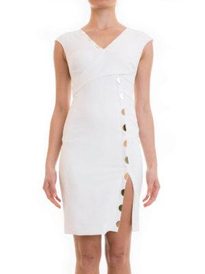 Versace Collection: short dresses online - Golden detailed sleeveless dress