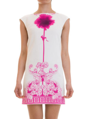 Versace Collection: short dresses online - Greek fret cotton blend dress