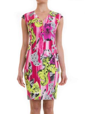 Versace Collection: short dresses online - Patterned viscose sleeveless dress
