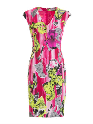 Versace Collection: short dresses - Patterned viscose sleeveless dress