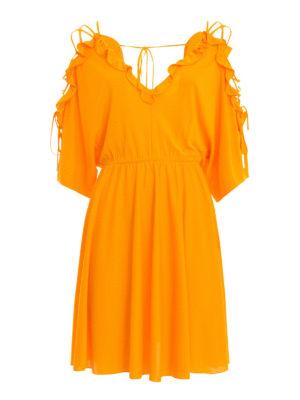 Versace Collection: short dresses - Viscose flounced short dress