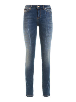 Versace Collection: skinny jeans - Rhinestone embellished skinny jeans