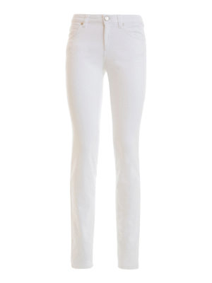 Versace Collection: straight leg jeans - Back rhinestone V jeans
