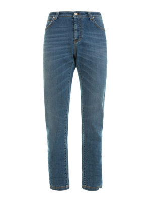 Versace Collection: straight leg jeans - Faded denim classic jeans