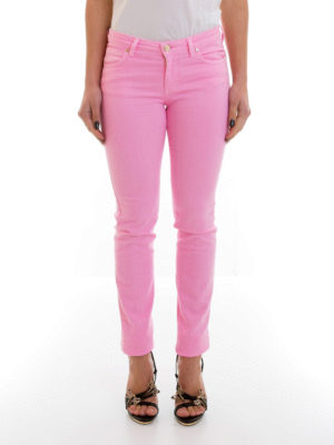 Versace Collection: straight leg jeans online - Back rhinestone V jeans