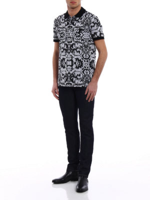 Versace Collection: straight leg jeans online - Medusa Head embroidery slim jeans