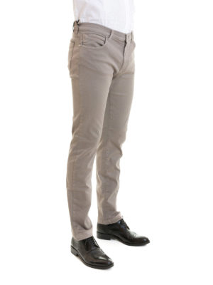 Versace Collection: straight leg jeans online - Stretch cotton denim grey jeans