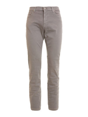 Versace Collection: straight leg jeans - Stretch cotton denim grey jeans