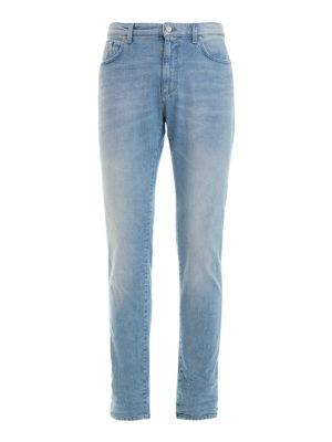 Versace Collection: straight leg jeans - Stretch cotton denim jeans