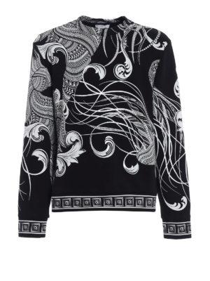 Versace Collection: Sweatshirts & Sweaters - Contrast print signature sweatshirt
