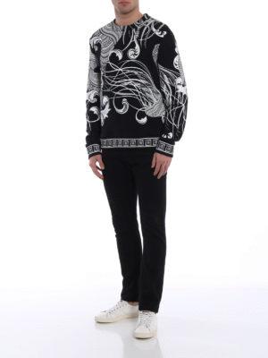 Versace Collection: Sweatshirts & Sweaters online - Contrast print signature sweatshirt