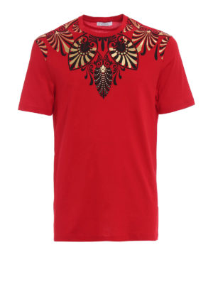 Versace Collection: t-shirts - Embellished red T-shirt