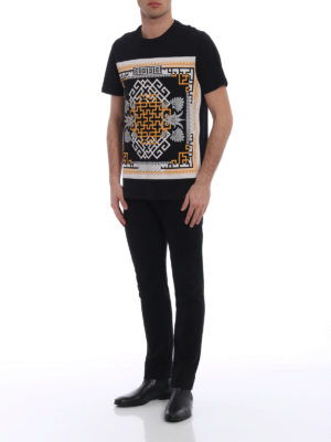 Versace Collection: t-shirts online - Front Cornici print T-shirt