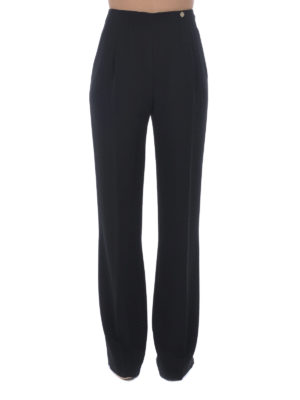 Versace Collection: Tailored & Formal trousers online - Flared trousers with darts
