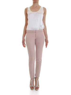 Versace Collection: Tailored & Formal trousers online - Studded cady trousers