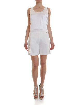 Versace Collection: Trousers Shorts online - Studded cady shorts