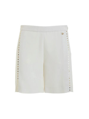 Versace Collection: Trousers Shorts - Studded cady shorts