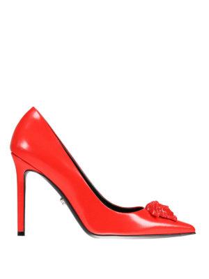 Versace: court shoes - Medusa Head detail leather pumps