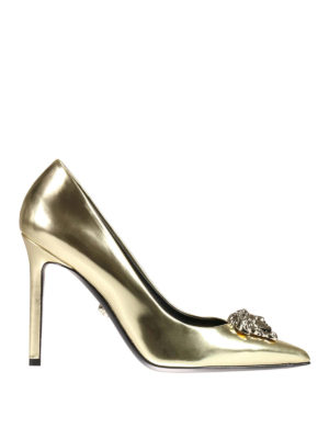 Versace: court shoes - Medusa Head detail leather pumps