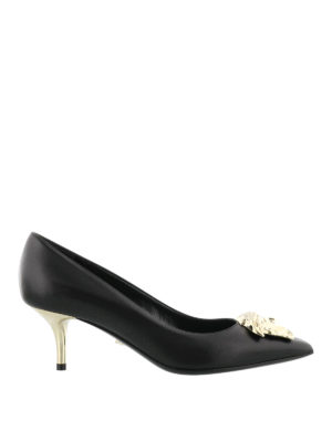 Versace: court shoes - Medusa Head leather pumps