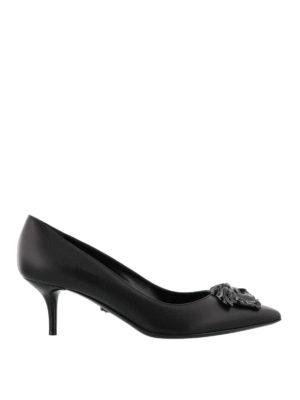 Versace: court shoes - Medusa leather pumps