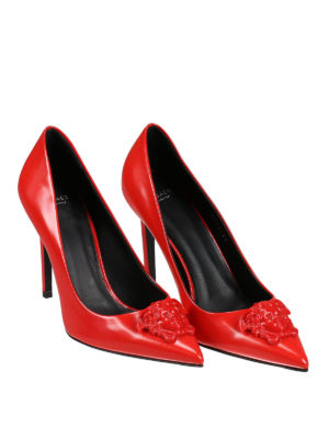 Versace: court shoes online - Medusa Head detail leather pumps
