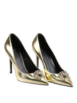 Versace: court shoes online - Medusa Head detail leather pumps