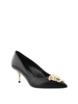 Versace: court shoes online - Medusa Head leather pumps