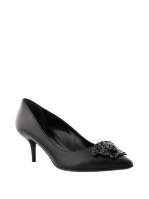 Versace: court shoes online - Medusa leather pumps