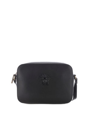 Versace: cross body bags - Medusa Palazzo black crossbody
