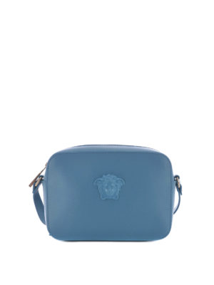 Versace: cross body bags - Medusa Palazzo blue crossbody