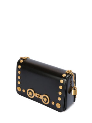 Versace: cross body bags online - Icon bag with Medusa studs