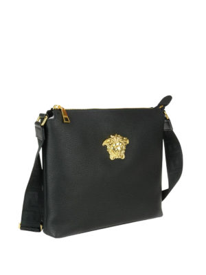 Versace: cross body bags online - Medusa Head leather messenger