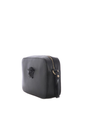 Versace: cross body bags online - Medusa Palazzo black crossbody