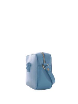 Versace: cross body bags online - Medusa Palazzo blue crossbody