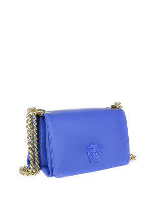 Versace: cross body bags online - Palazzo leather cross body bag