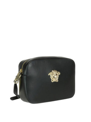 Versace: cross body bags online - Palazzo leather crossbody