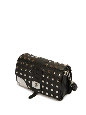 Versace: cross body bags online - Stardvust studded leather bag